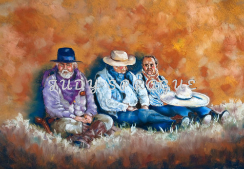 Old Cowpokes, Pastel