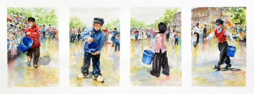 Dutch Boys by Judy Thompson Watercolors