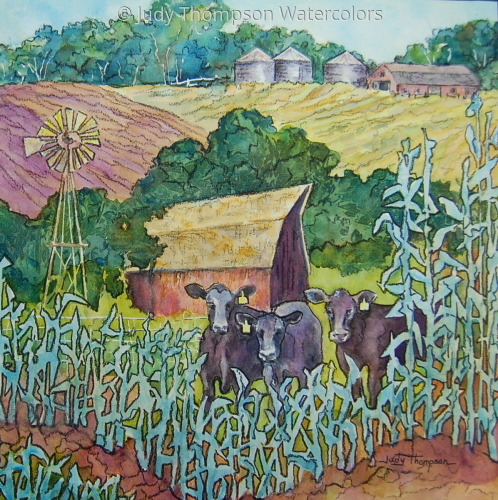 Cows in the Corn 1