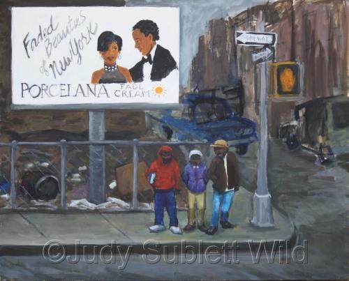 Harlem Street Scene, 1985