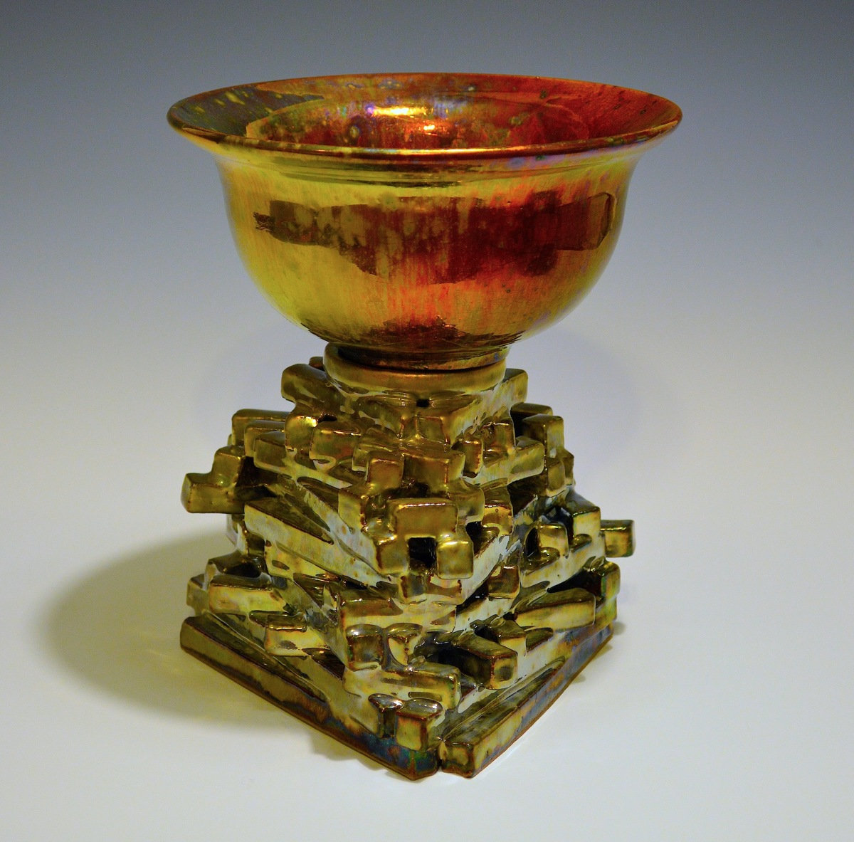 Constructivist luster bowl (large view)
