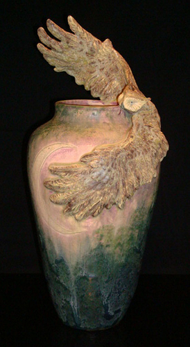 Great Horned Owl Amphora