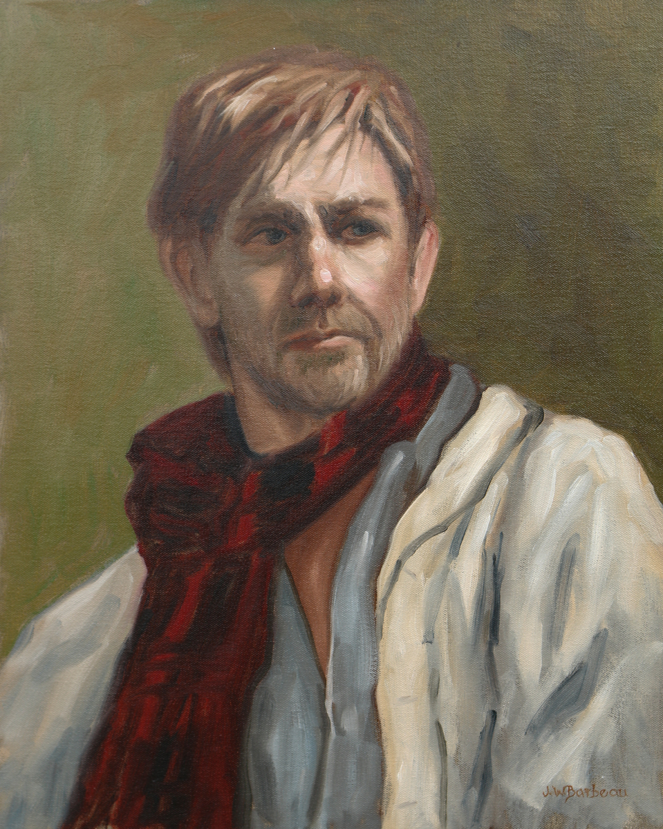 The Man with a Plaid Scarf (large view)