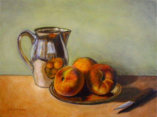 Peaches with Silver Pitcher (large view)