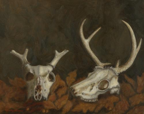 Deer Skulls in the Leaves (large view)