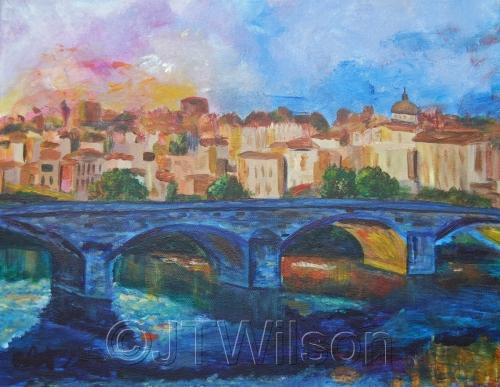 Bridge in Florence by Julia Thornton Wilson