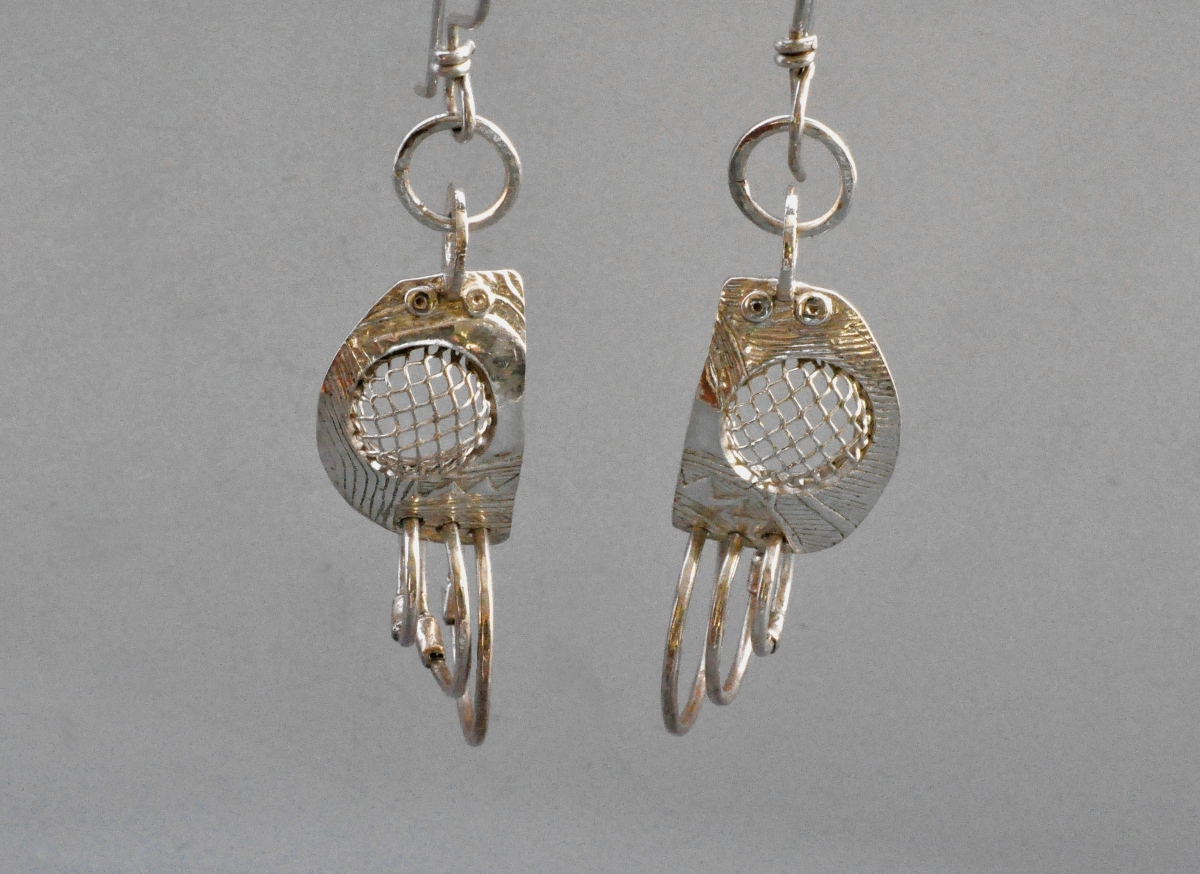 Mesh Earrings (large view)