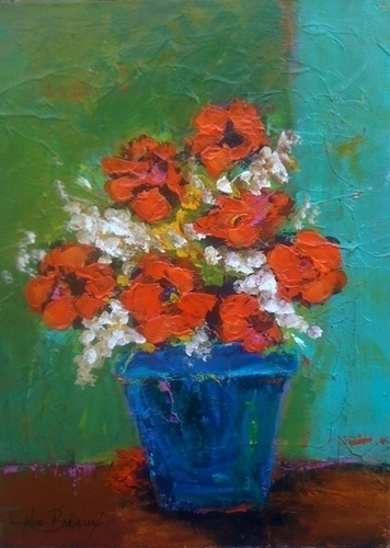 Flowers in Red