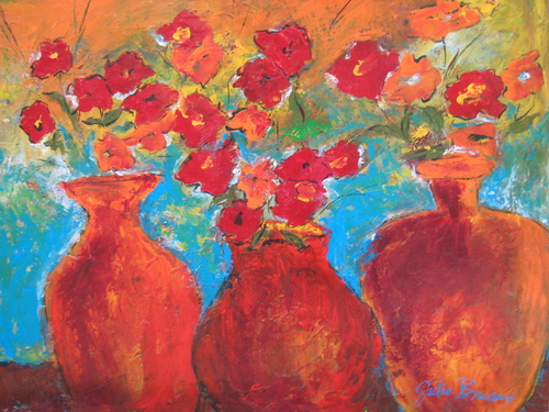 Poppies and Pottery