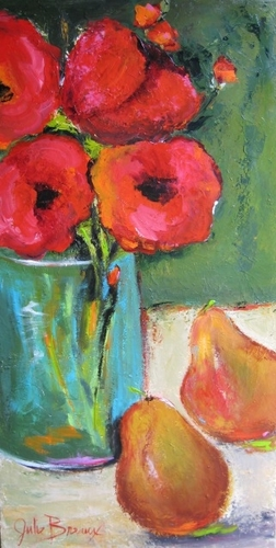 Poppies and Pears II