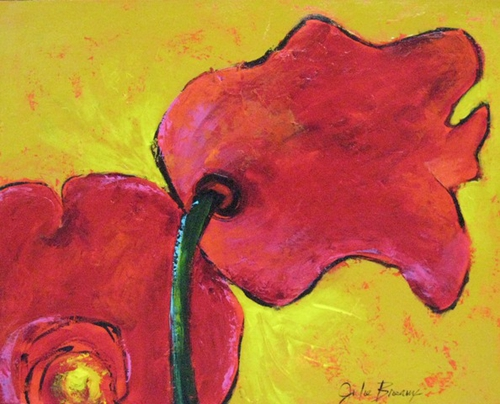 Whimsical Flowers of Reds