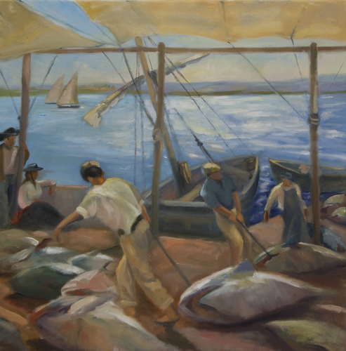 The Tuna Catch, after Sorolla