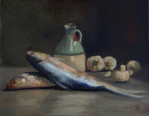 Dinner For Two by Julie Fornaci Fine Art
