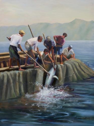 Genoan Fishermen by Julie Fornaci Fine Art