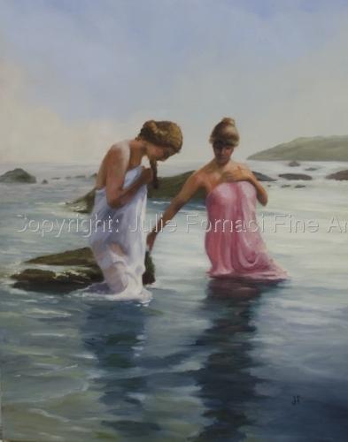 Women Bathers by Julie Fornaci Fine Art