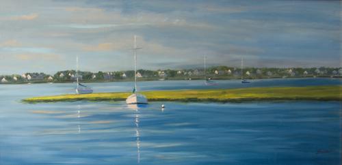Marina Sunrise by Julie Fornaci Fine Art