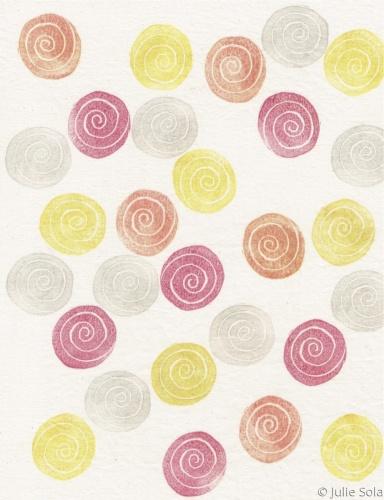 Swirl dot pattern