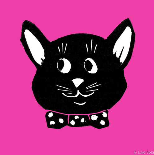 Hot pink cat head