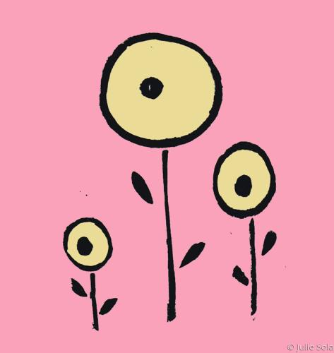 3 circle flowers