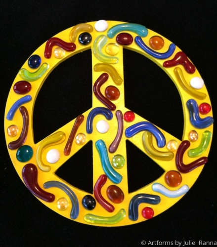 Primary Abstract Peace Sign