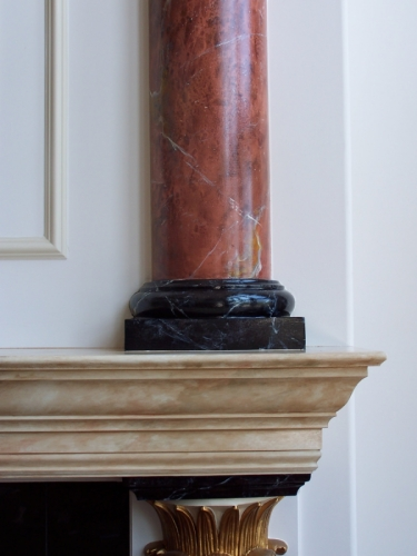 detail of marbled columns