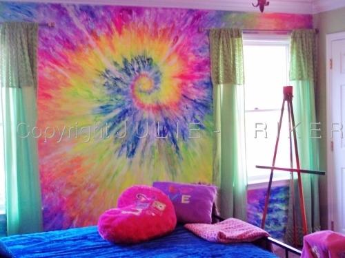 Tie dye wall mural