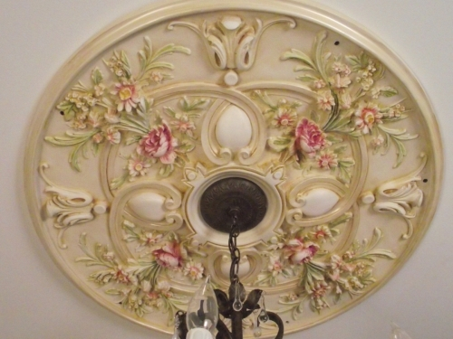 painted ceiling medallion