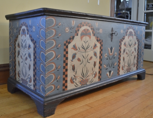 Handpainted Blanket Chest Decoration