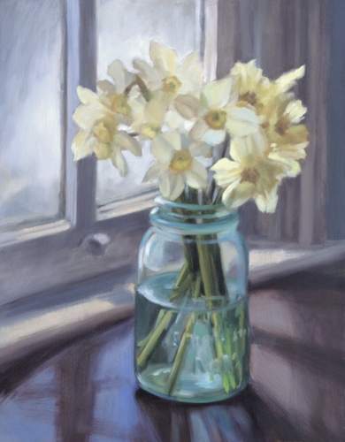 Daffodils In A Mason Jar