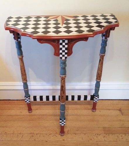 Mackenzie Childs inspired table