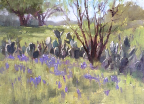 Blue Bonnets and Prickly Pears