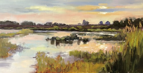 Sunset Over The Marsh