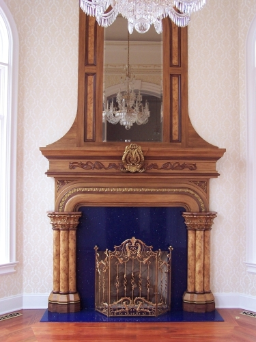 Woodgrained Mantel