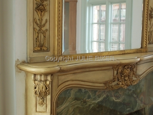 mantel restoration, detail