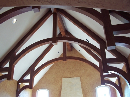 Woodgrained Beams
