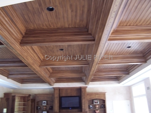 Woodgrained Ceiling