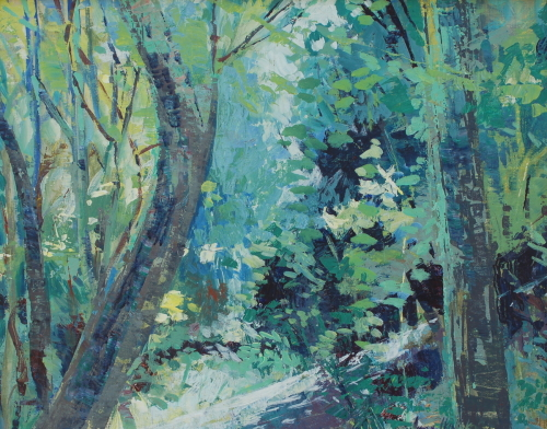 Study for Light in the Forest by June Skalak