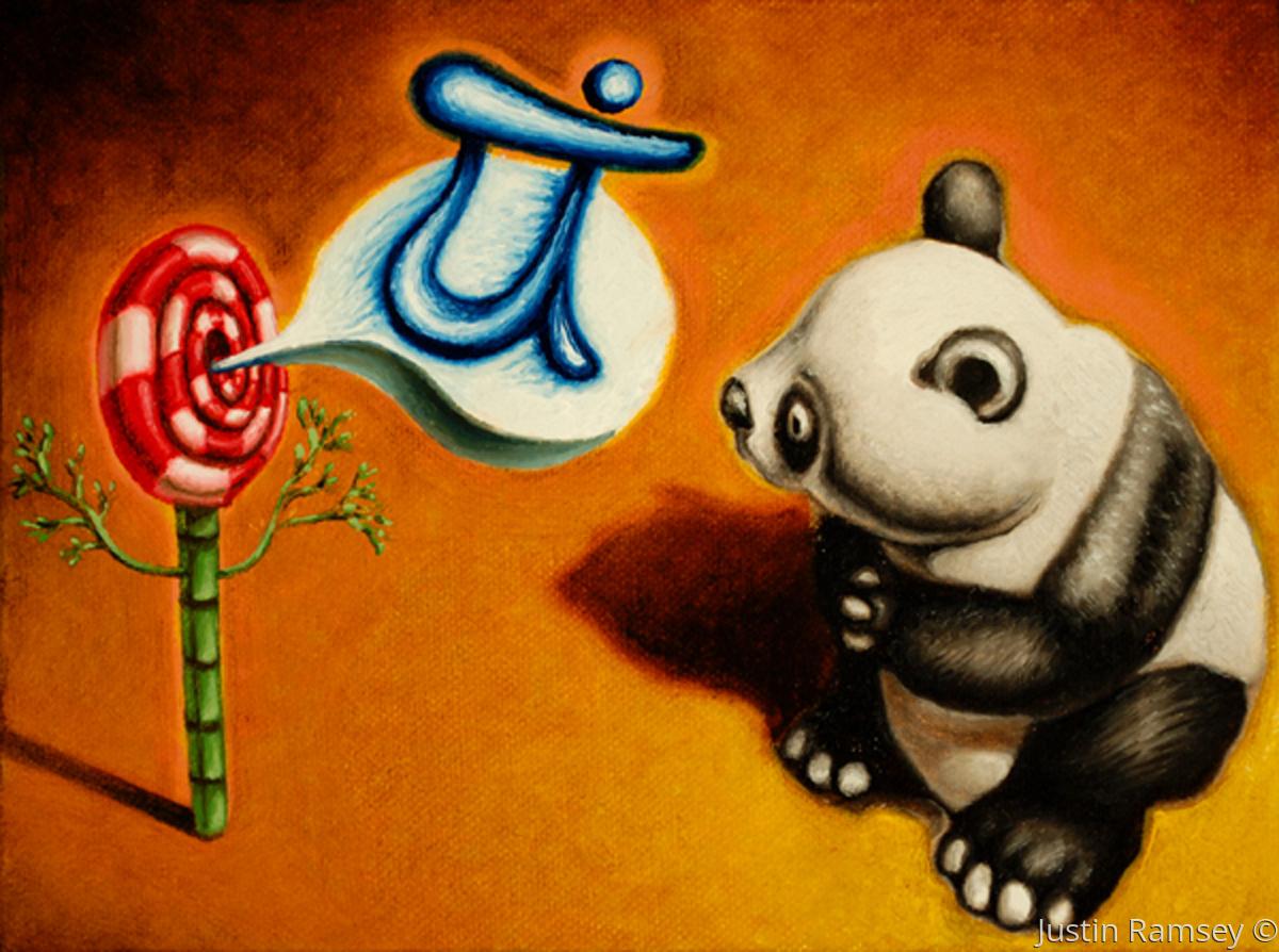 Panda Talks Pranatics With The Mystic Lollipop Bamboo (large view)