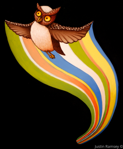Spectral-Striping Owl