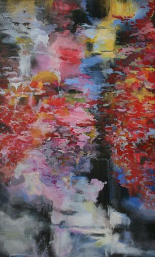 276 Waterfall (sold) by Jutta Rakoniewski