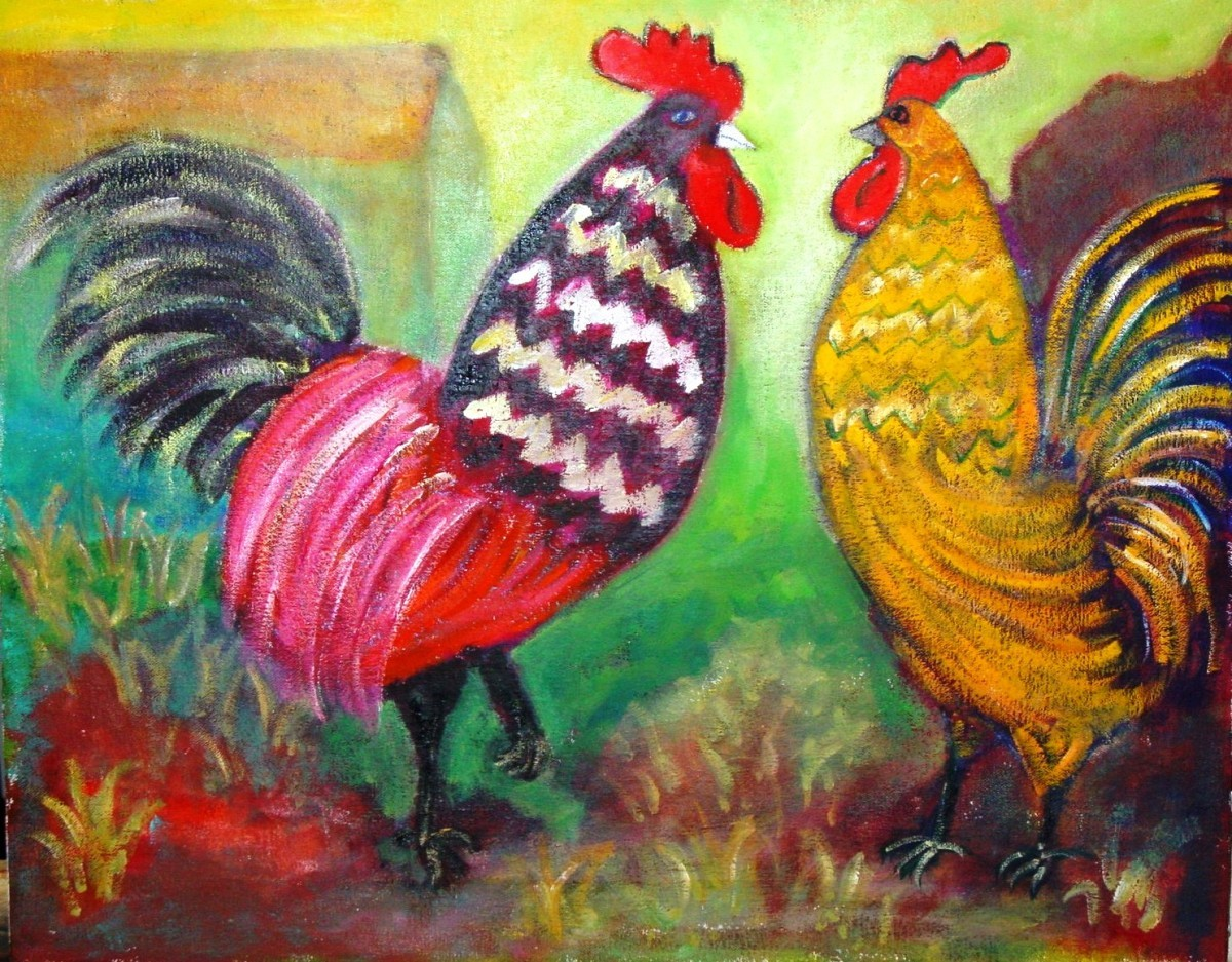 two roosters (large view)