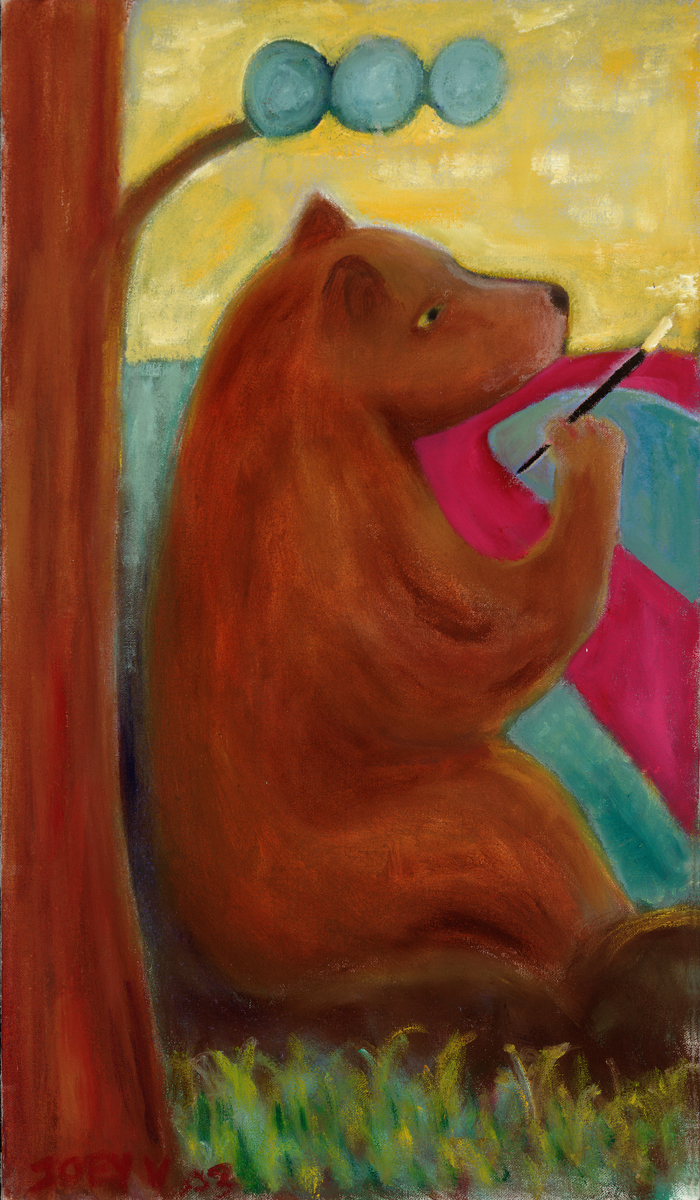 painting bear (large view)