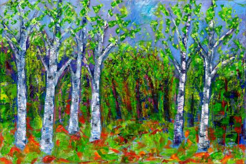 birch trees.2018