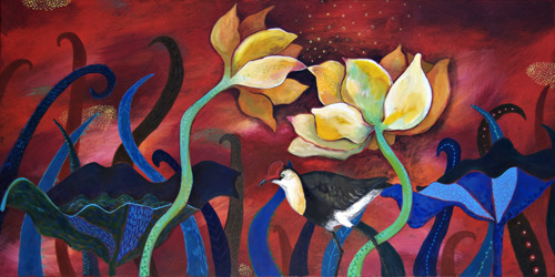 Kakadu Study: Jacana & Lotus