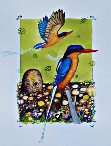 Buff Breasted Paradise Kingfisher