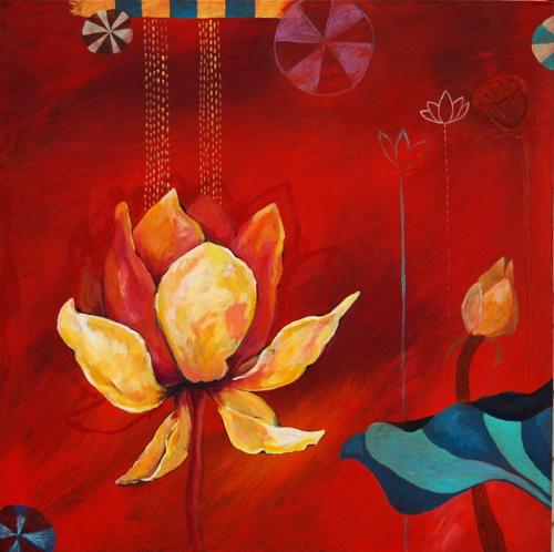 Lotus Garden Red Duet 2