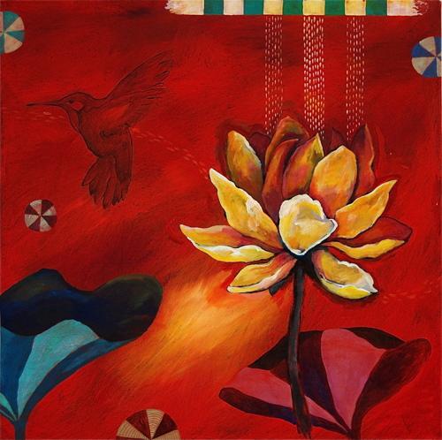 Lotus Garden Red Duet 1