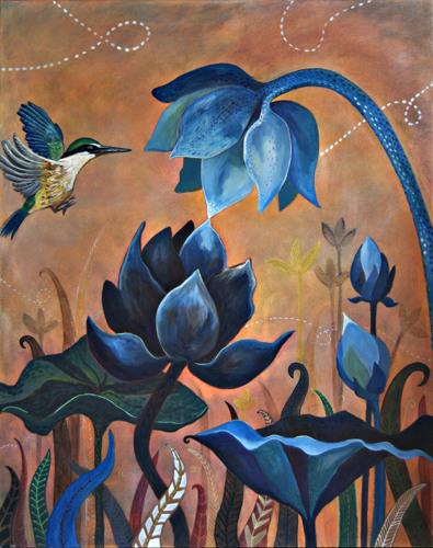 Lotus & Sacred Kingfisher