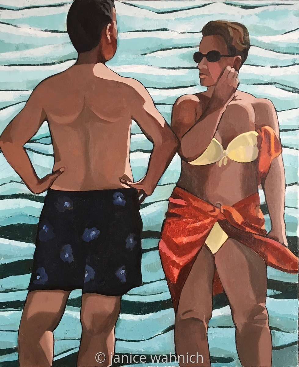 Beach life  1     Acrylic on canvas (large view)
