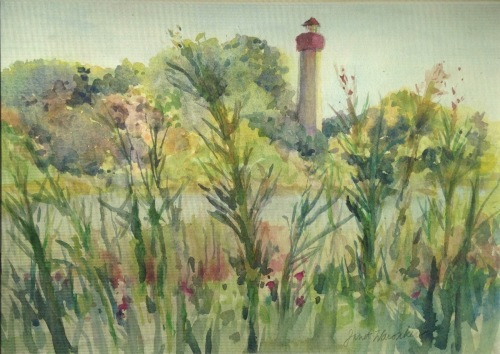 Lighthouse view, Cape May Point NJ by Janet Waronker